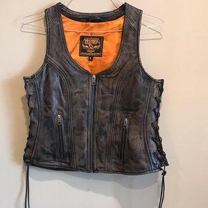 Milwaukee Motorcycle Clothing Co. Leather Vest